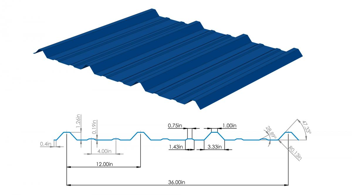 Structural U201cRu201d Metal Roofing U0026 Siding Panel